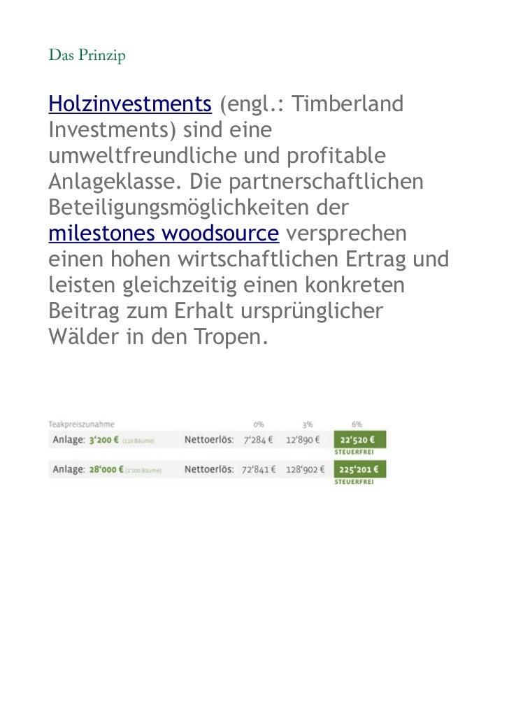 Holzinvestments (engl.: TimberlandInvestments) sind eineumweltfreundliche und profitableAnlageklasse. Die partnerschaftlic...