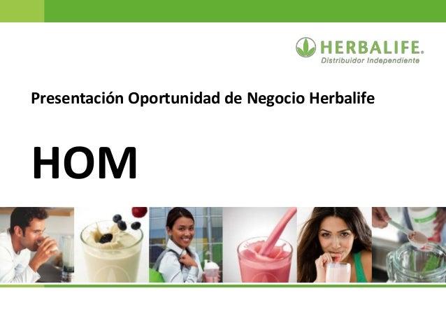 Presentación Oportunidad de Negocio Herbalife HOM