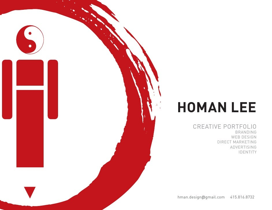 HOMAN LEE       CREATIVE PORTFOLIO                          BRANDING                        WEB DESIGN                  DI...