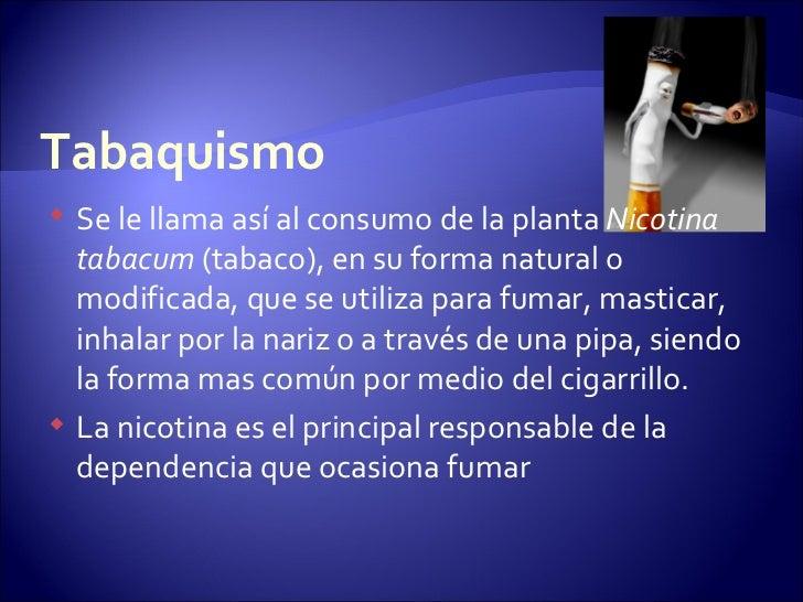 Las dependencias del fumar