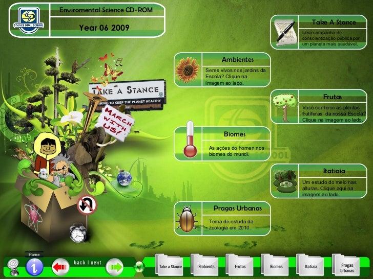 Year 06 2009 Home Enviromental Science CD-ROM Take A Stance Ambientes Frutas Biomes Itatiaia Pragas Urbanas Uma campanha d...