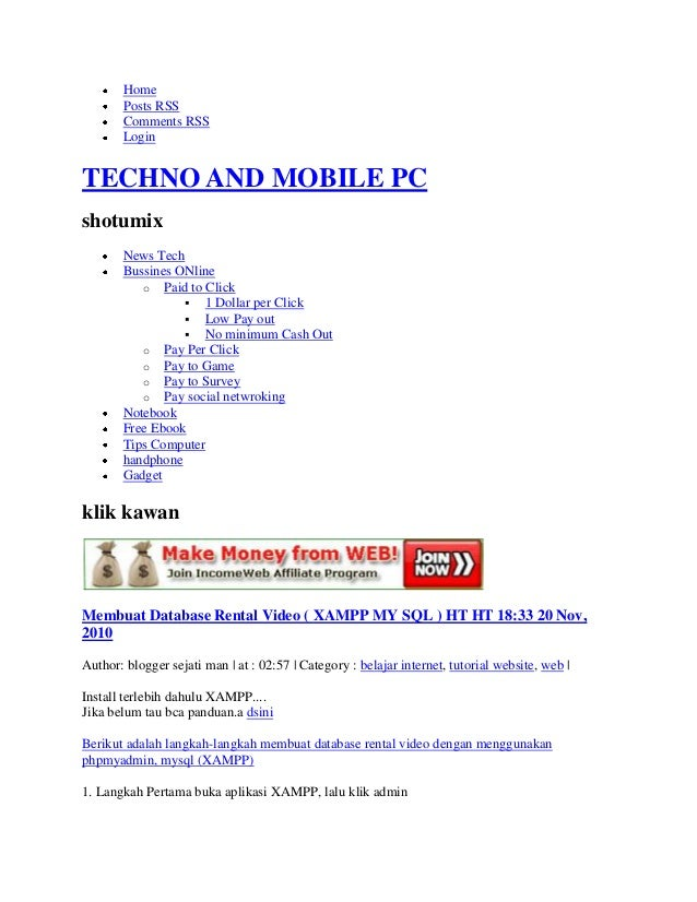 Home       Posts RSS       Comments RSS       LoginTECHNO AND MOBILE PCshotumix       News Tech       Bussines ONline     ...