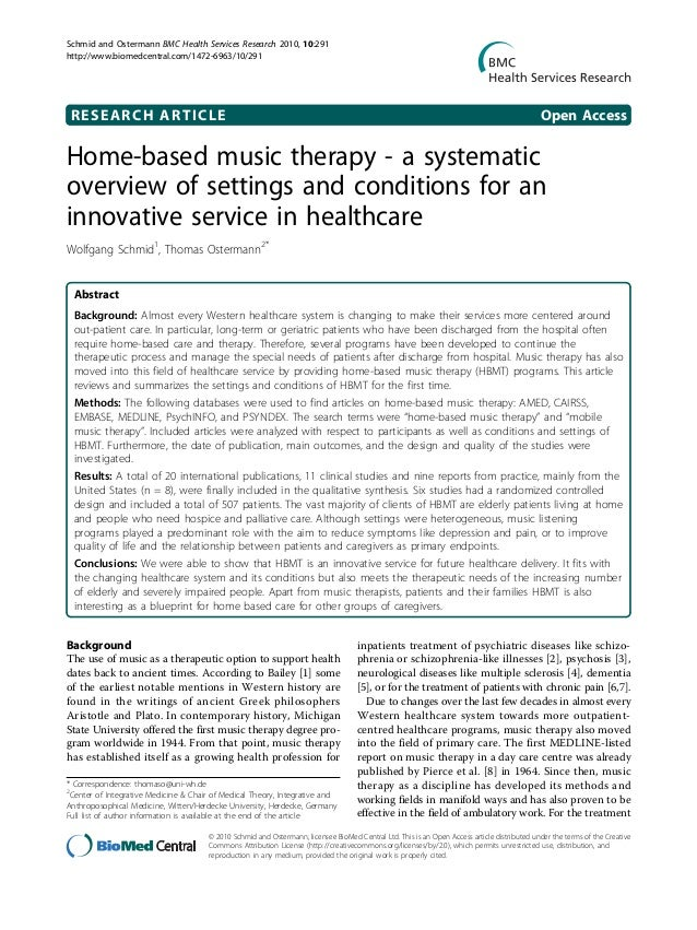 articles on music therapy