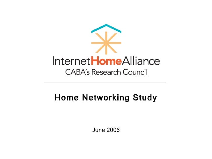 Home Networking Study June 2006