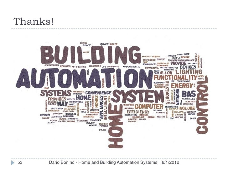 Thanks!53    Dario Bonino - Home and Building Automation Systems   6/1/2012
