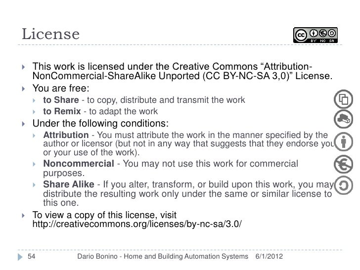 """License    This work is licensed under the Creative Commons """"Attribution-     NonCommercial-ShareAlike Unported (CC BY-NC..."""