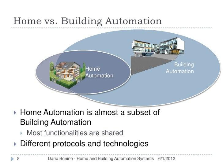 Home vs. Building Automation                                                                              Building        ...
