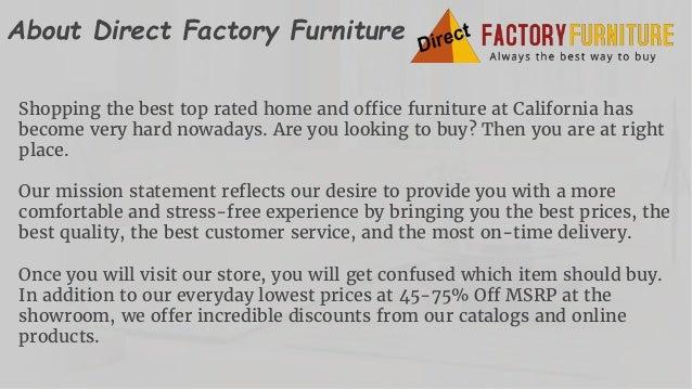 Direct Factory Furniture Home   Office Furniture Store San Jose  CA  2. One Stop Furniture Store in California
