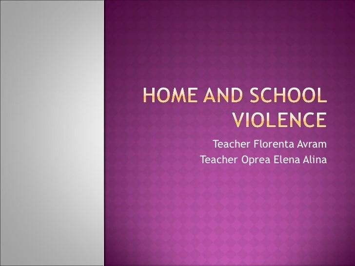 Teacher Florenta Avram Teacher Oprea Elena Alina