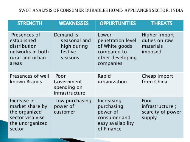 consumer durables industry analysis essay With this advent, there has been a significant rise in consumer durables as well,  washing detergents industry analysis essay.