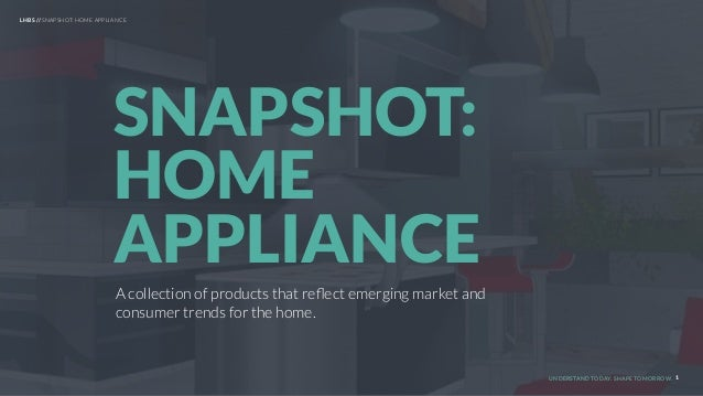 UNDERSTAND TODAY. SHAPE TOMORROW. 1 A collection of products that reflect emerging market and consumer trends for the home....