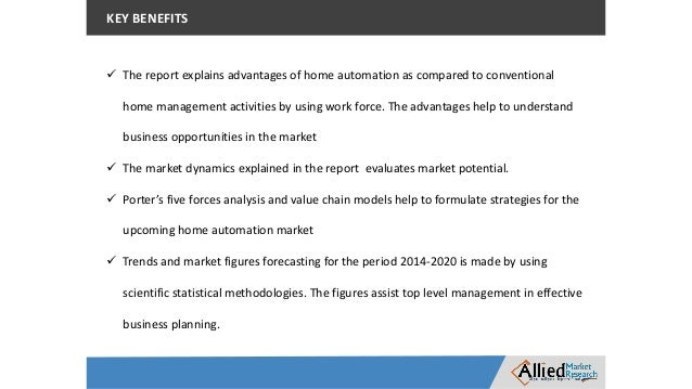 Benefits Of Home Automation home automation market global opportunity analysis and industry forec…