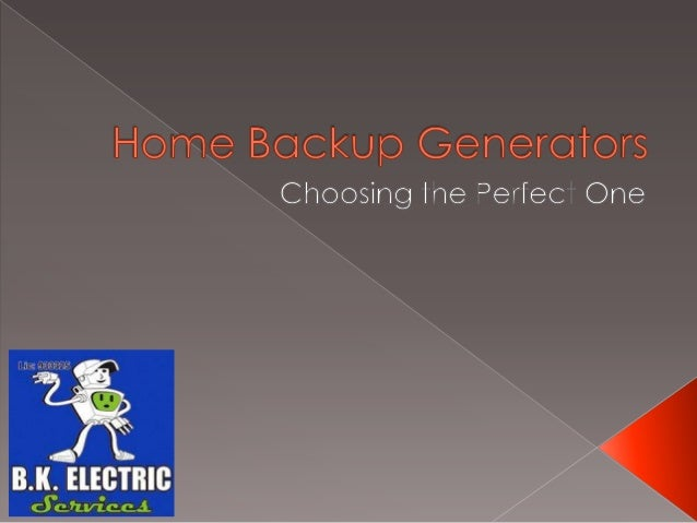  A few years ago in the land before time(pre-Internet), generators weren't needso much by the average homeowner. Blackou...