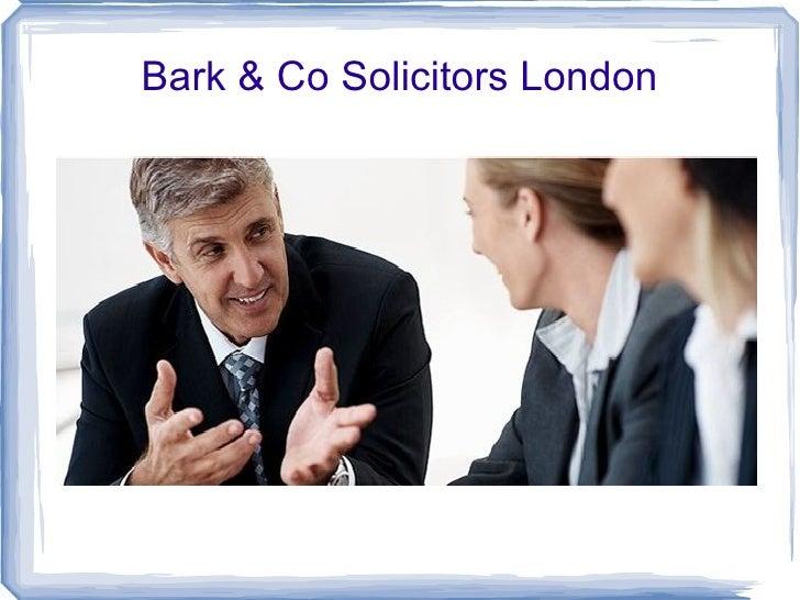 Bark & Co Solicitors London