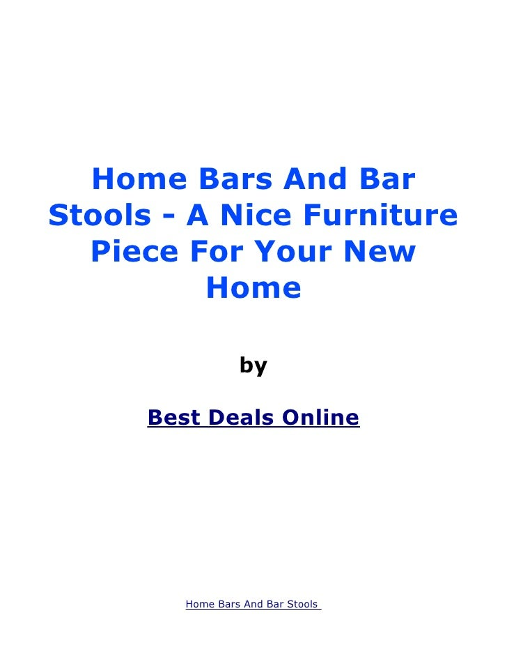 Home Bars And BarStools - A Nice Furniture  Piece For Your New          Home                  by      Best Deals Online   ...