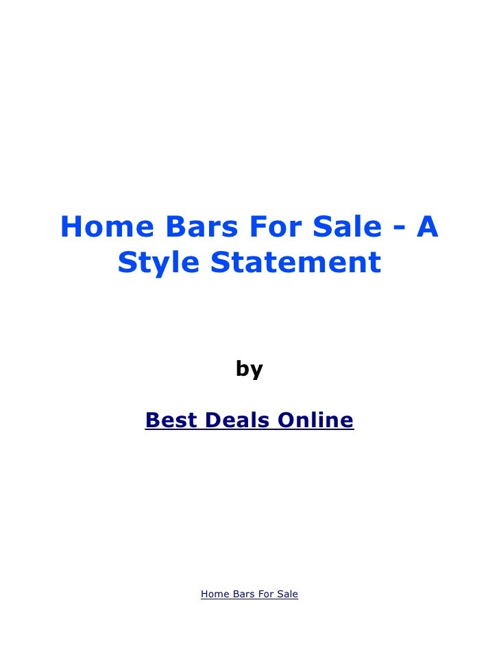 Home Bars For Sale - A  Style Statement              by    Best Deals Online        Home Bars For Sale