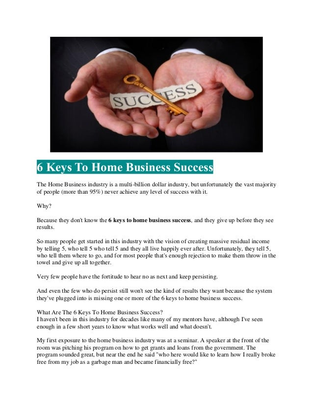 Home business blueprint report keys to success 8 malvernweather