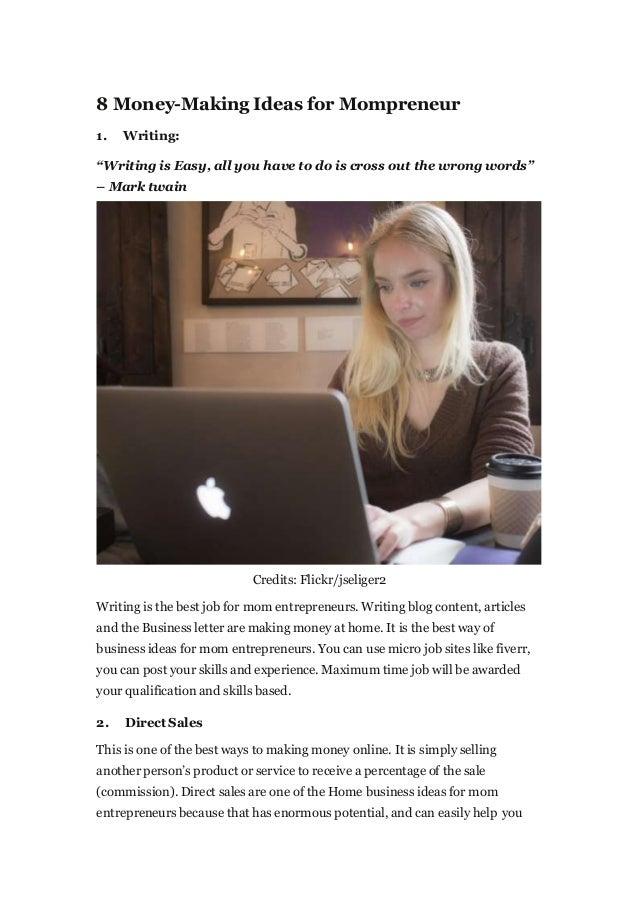 Business Ideas For Mom Entrepreneurs 7