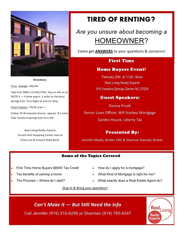 Byer Flyer Cypruhamsaaco - First time home buyer flyer template