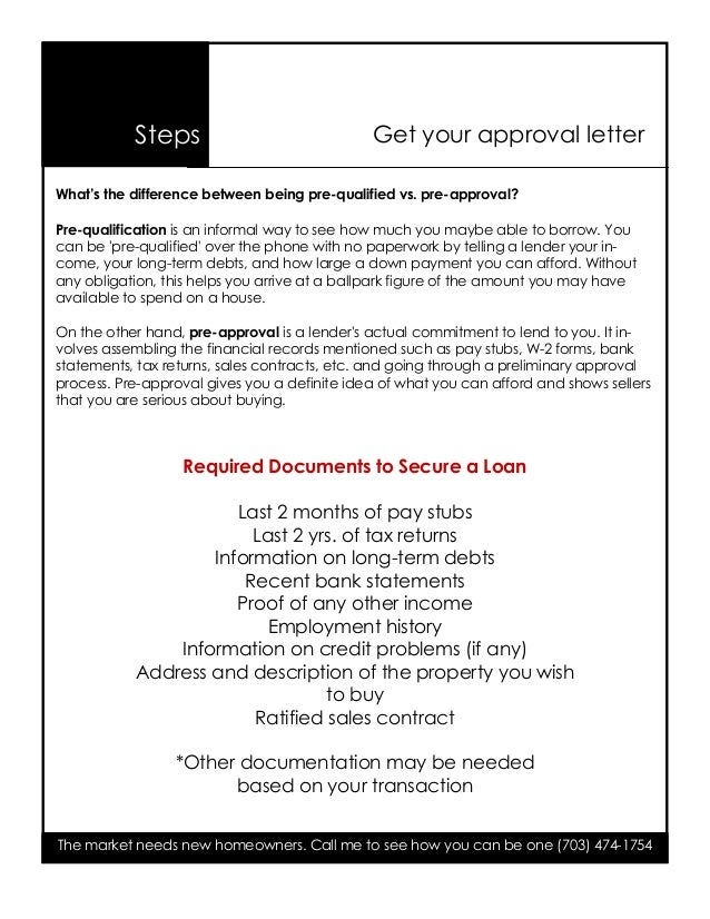 Pre Approval Home Loan Process If Your Score Is The Low End