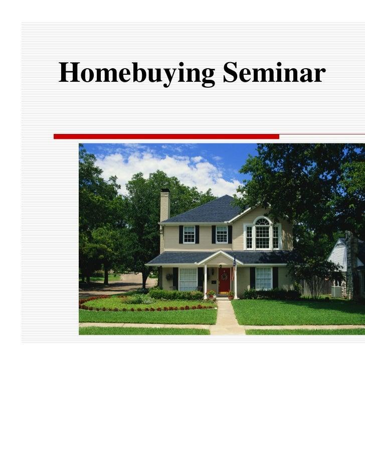 Homebuying Seminar