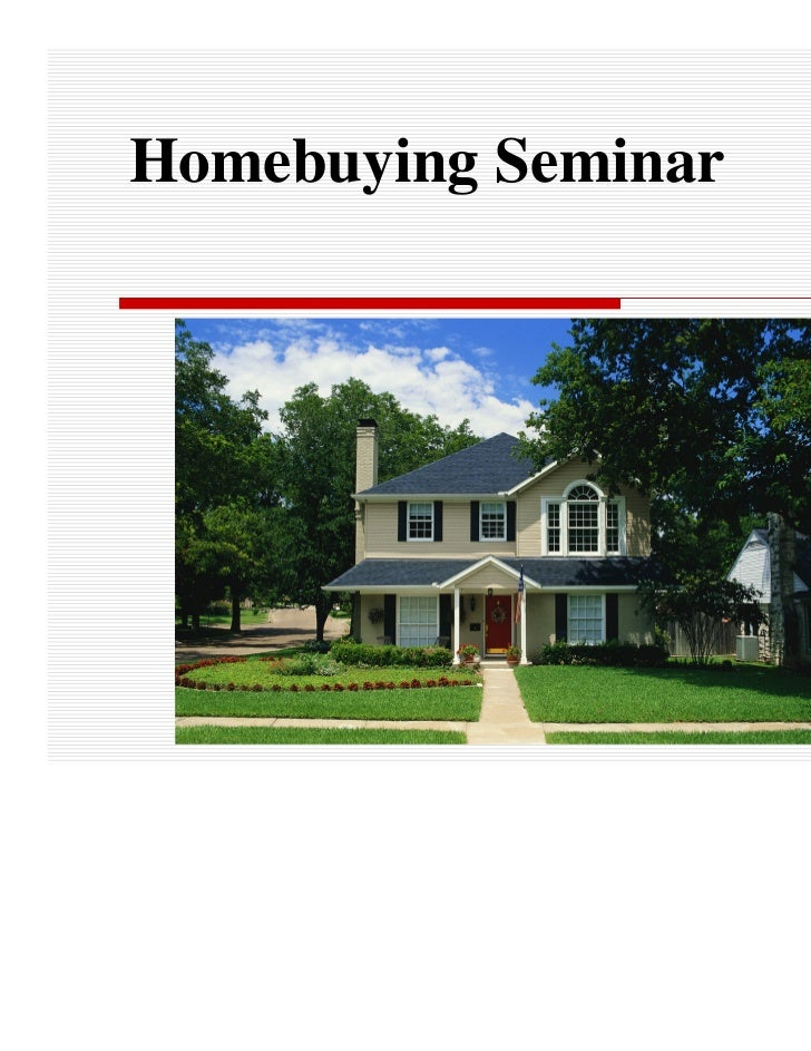 Homebuying Seminar