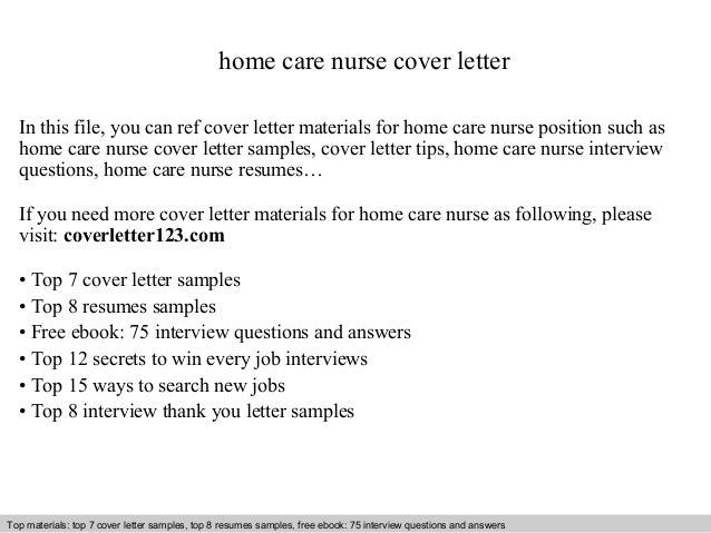 Home care nurse cover letter