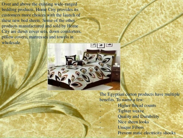 home city inc., one of the usa's foremost wholesale bedding suppliers…