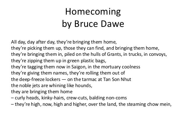 bruce dawe gulf war poem analysis As and a level: war poetry  the question and if it enhances poetic analysis and contributes  is a fine example of a poem which attacks the glory of war.