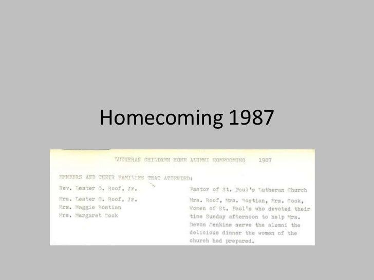 Homecoming 1987