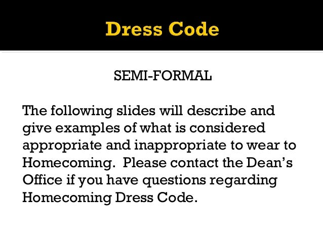 Cchs Homecoming 2013 Dress Code