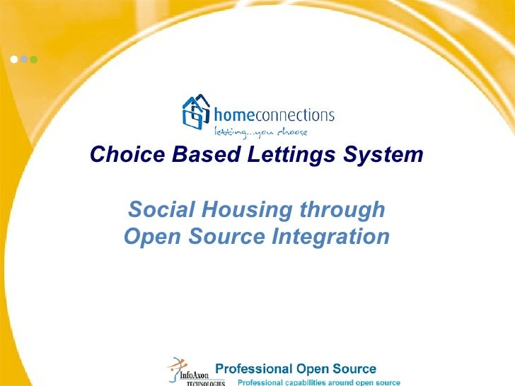 Choice Based Lettings System Social Housing through Open Source Integration