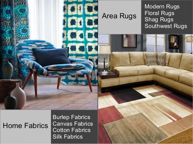 home decor idea with quality home fabrics and modern area rugs
