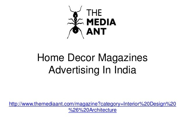 Home decor magazines india online Home decor
