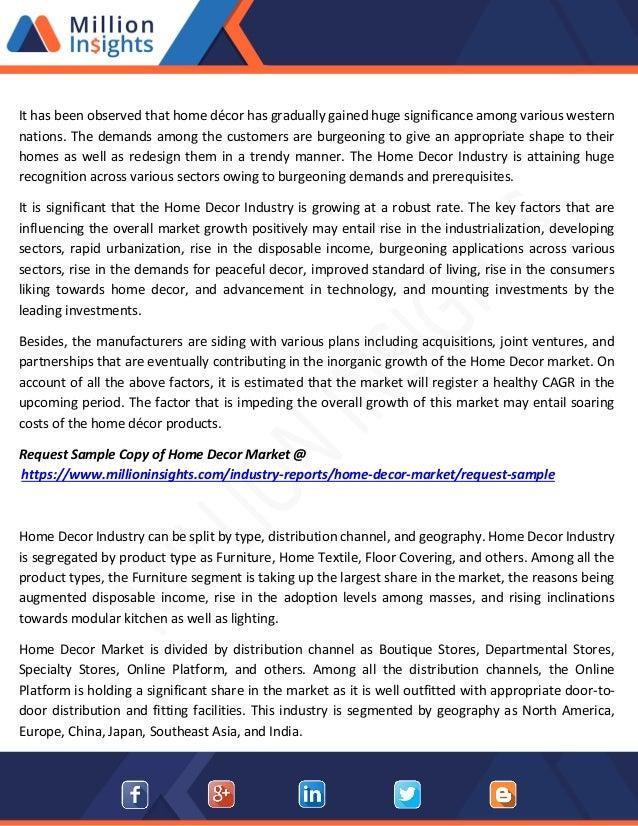 Home decor market downstream buyers, distributors, capacity to 2022