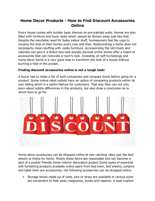 Home Decor Products How To Find Discount Accessories Online