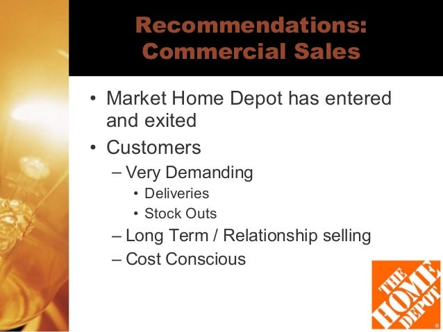 competitor analysis home depot Valuation and analysis of home depot inc gracie quintana jeff miller christine kyrish home depot has a competitive advantage over other firms in the industry by.