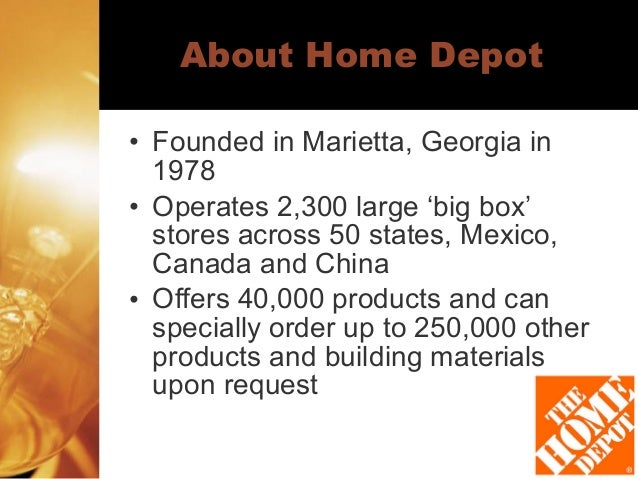 home depot analysis Home depot (hd) shares had a fine 2013, climbing around 35%, to a record high in the low $80s in fact, the dow component seemed to have the wind at its back throughout the year, thanks to information technology and supply chain upgrades, good expense leverage, market-share gains, and the early stages of what promises to be a lengthy housing recovery.