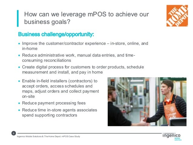 Case Study Ingenico Mobile Solutions And The Home Depot