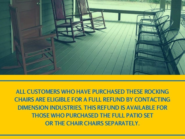 Home Depot Patio Set Rocking Chairs Recalled