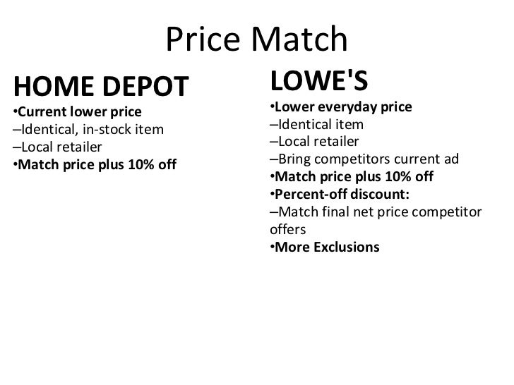 fea952a515 Home Depot vs. Lowes  2. Price Match ...