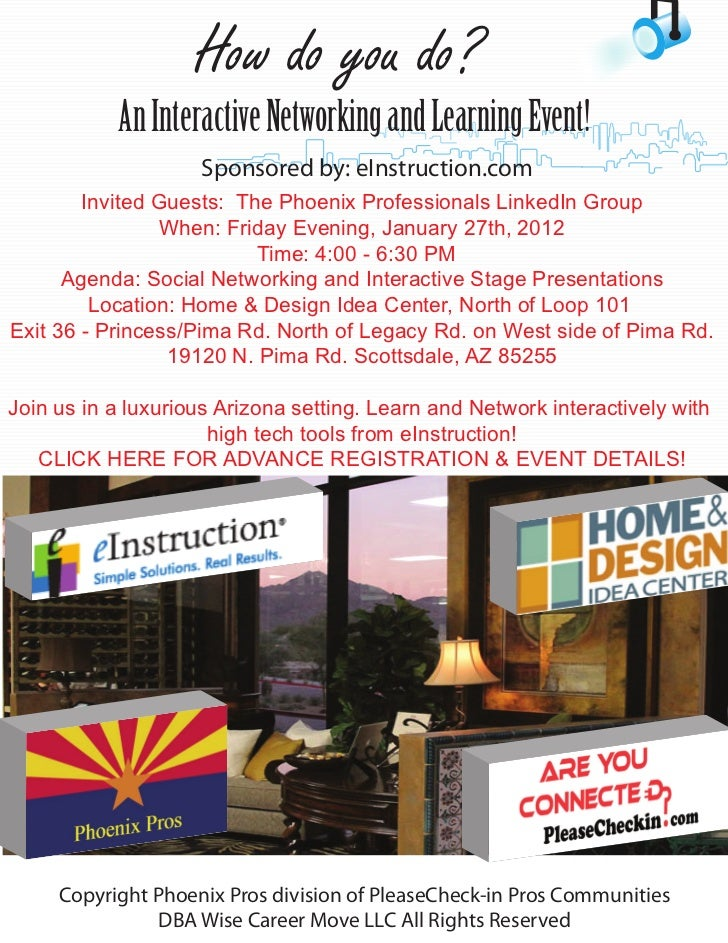 How do you do?           An Interactive Networking and Learning Event!                    Sponsored by: eInstruction.com  ...