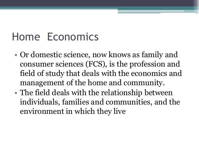 Home Economics Presentation