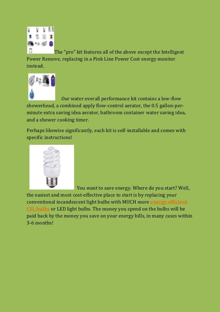 How To Be Energy Efficient At Home: Energy Conservation Kits Slide 2