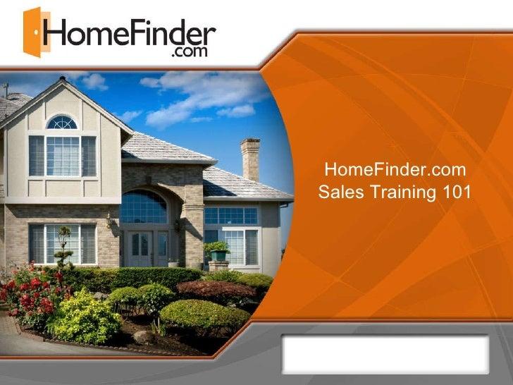 HomeFinder.com Sales Training 101