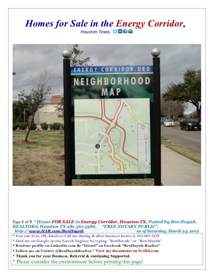 Homes for Sale in the Energy Corridor,                                    Houston Texas.Page 1 of 5 * House FOR SALE in En...