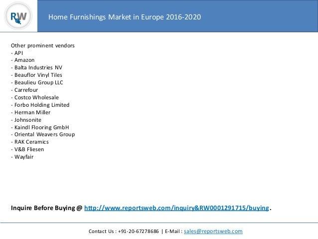 Home Furnishings Market In Europe 2016 2020 4