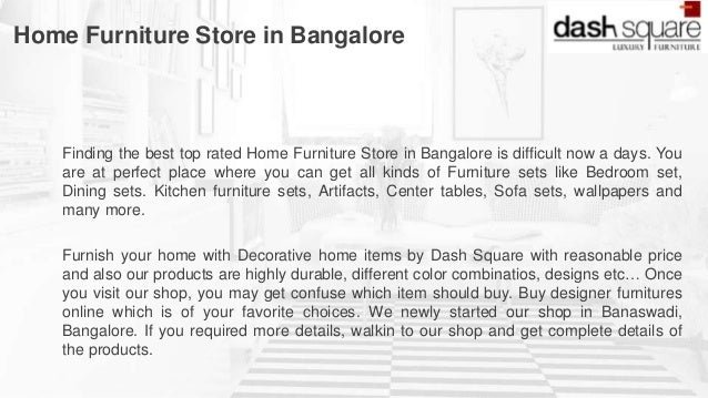 Home Furniture Store In Bangalore