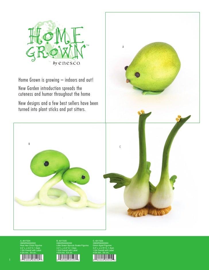 A         Home Grown is growing – indoors and out!     New Garden introduction spreads the     cuteness and humor througho...