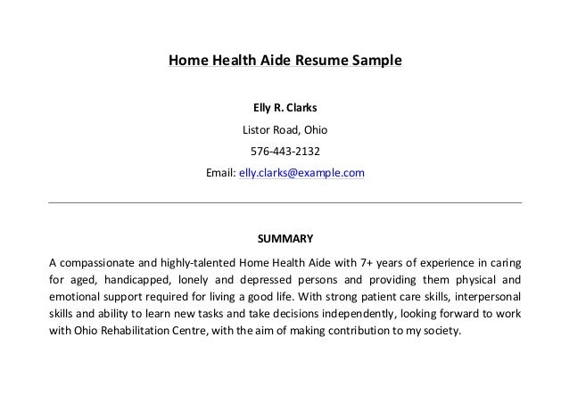 homehealthaideresumesample3638jpgcb 1458724375 – Home Health Aide Resume